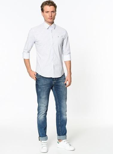 Avva Desenli Gömlek Beyaz